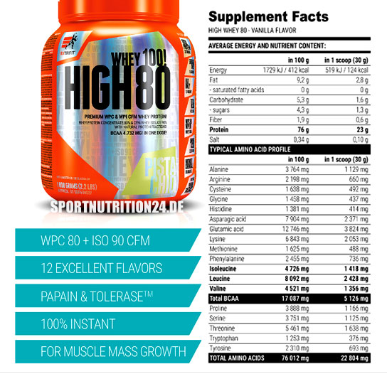 extrifit whey high80 facts