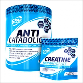 6Pak Nutrition Anti Catabolic Pak 500g + 6Pak Nutrition Creatine Monohydrate 500g