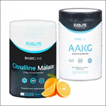 Evolite Basic Line Citrulline Malate 300g + Evolite Pure Line AAKG 300g