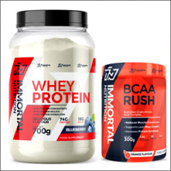 Immortal Nutrition Whey Protein 700g + Immortal Nutrition BCAA Rush 300g