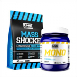 Uns Supplements Mass Shocker 4000g + Uns Supplements Mono 300g