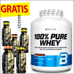 Biotech USA 100% Pure Whey 2270g + GRATIS Scatterbrain Shot 5 x 120ml