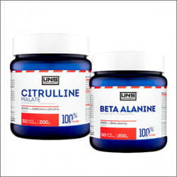 UNS Supplements Beta Alanine 200g + UNS Supplements Citrulline Malate 200g