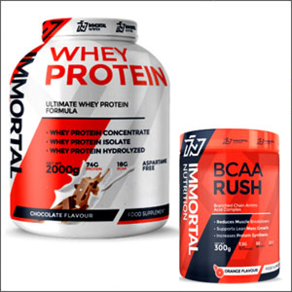 immortal nutrition whey proteinund  bcaa rush