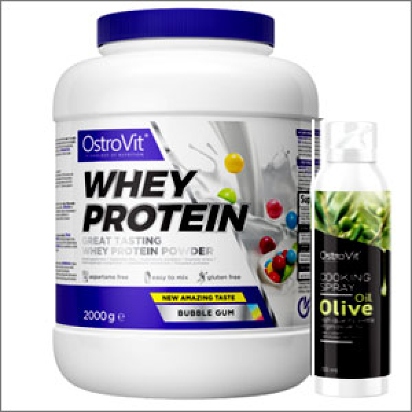 OstroVit Whey Protein 2000g + OstroVit Cooking Spray Olive Oil 200ml