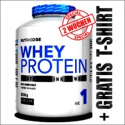 Nutricore Whey Protein 2000g + GRATIS T-SHIRT